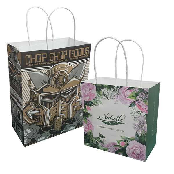 Full Colour Printing Kraft Paper Bag KPB-105