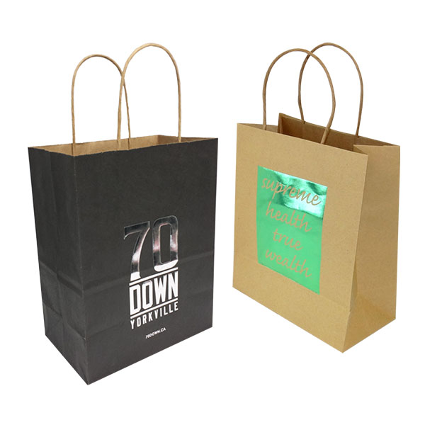 Hot Stamped Kraft Paper Bags KPB-106