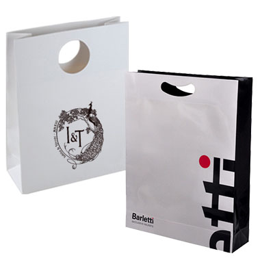 Die-cut handle Paper Shopping Bag LPB-106