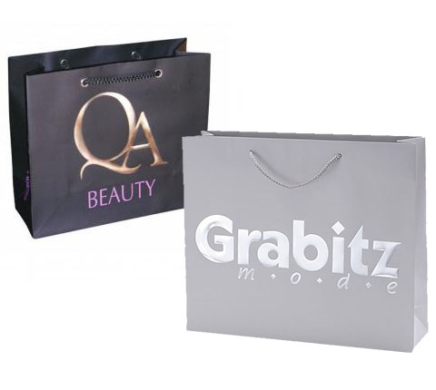 Laminated Paper Bag with Embossed Logo LPB-109