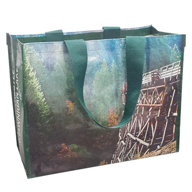 Laminated Woven Tote Bag with Wide Handle LWB - 105