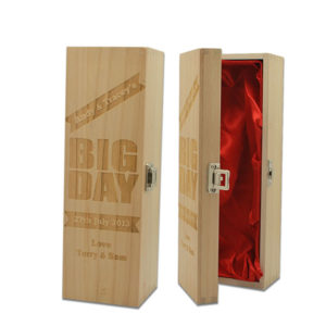 Classic Wood Wine Box with Lock BWB-108