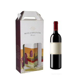 Custom Printed Gable Corrugate Wine Box COPB-108