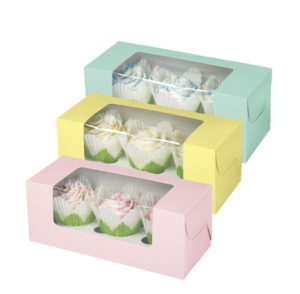 Cup Cake Box with Display Window and Insert FBB-105