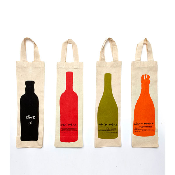 1 Bottle Canvas Reusable Wine Bag WB-104