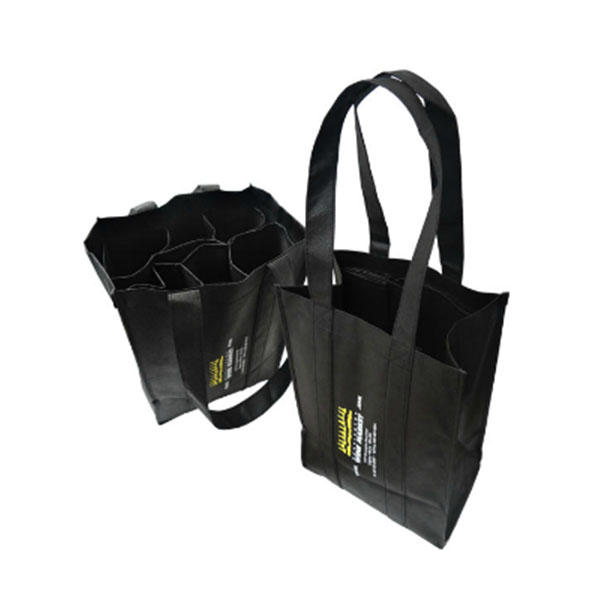 6 Bottles Reusable Non-woven Wine Bag with Foldable Bottle Insert WB-107