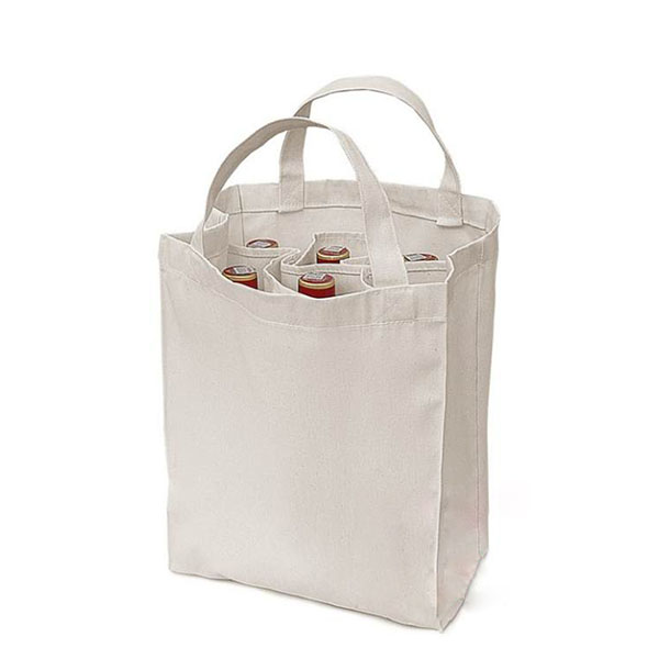 6 Bottles Canvas Reusable Wine Bag WB-109
